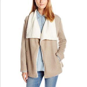 BB Dakota Bellota Ticking Stripe Shearling Jacket